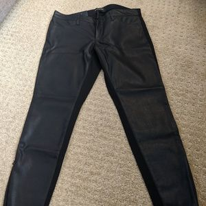 Banana Republic Pleather Pants - Zipper Ankle
